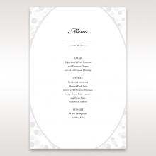 Contemporary Celebration wedding reception menu card