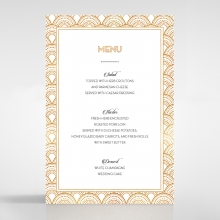 Contemporary Glamour wedding reception menu card stationery design