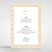 Contemporary Glamour wedding reception menu card stationery item