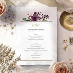 Contemporary Love wedding venue table menu card stationery design