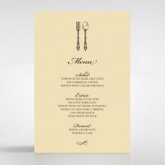 Damask Love wedding reception menu card stationery item