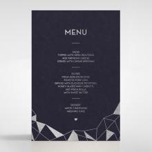 Digital Love reception menu card design