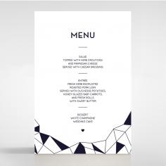 Digital Love wedding reception menu card