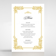 Divine Damask wedding reception menu card stationery design
