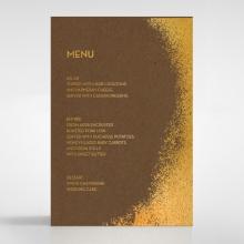Dusted Glamour wedding menu card stationery