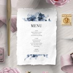 Dusty Watercolour wedding stationery menu card design