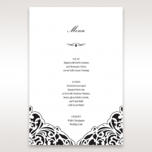 Elegance Encapsulated Laser cut Black wedding venue table menu card