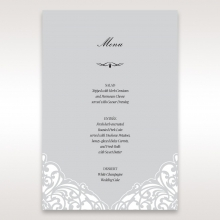Elegance Encapsulated wedding table menu card stationery design
