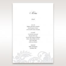 Elegant Black Laser Cut Sleeve menu card