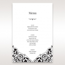 Elegant Crystal Black Lasercut Pocket wedding reception menu card stationery item