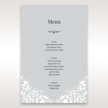 Elegant Crystal Lasercut Pocket wedding stationery menu card