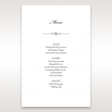 Embossed Date wedding menu card stationery item