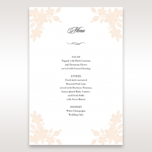 Embossed Floral Frame wedding reception menu card stationery
