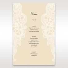 Embossed Floral Pocket menu card stationery item
