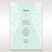 Embossed Gatefold Flowers wedding venue table menu card