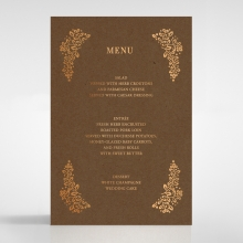 Enchanted Crest wedding stationery menu card
