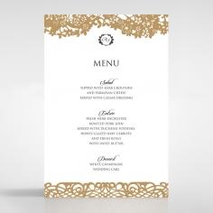 Enchanting Forest reception menu card stationery