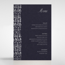 Enchanting Halo wedding stationery table menu card item