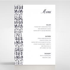 Enchanting Halo wedding menu card stationery