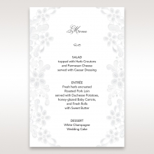 Enchanting Ivory Laser Cut Floral Wrap wedding table menu card stationery