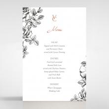 English Rose wedding table menu card stationery item