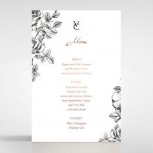 English Rose wedding stationery table menu card