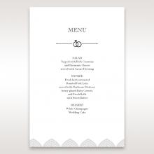 Everly wedding venue menu card design