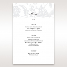 Exquisite Floral Pocket wedding reception table menu card stationery design