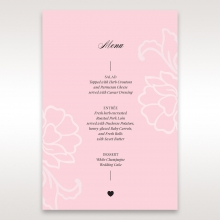 Exquisitely Embossed Floral Pocket wedding reception menu card stationery