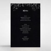 Fire Sparkle wedding reception menu card stationery design