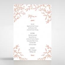 Fleur wedding reception menu card stationery