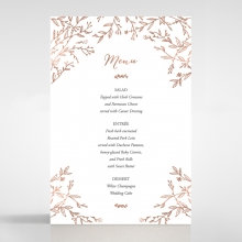Fleur wedding reception menu card stationery design