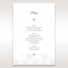 Floral Cluster wedding reception table menu card stationery item