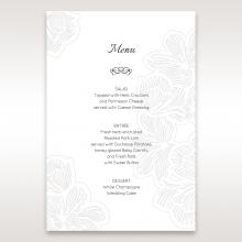 Floral Laser Cut Elegance Black wedding venue table menu card stationery design