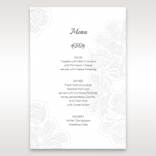 Floral Laser Cut Elegance menu card design