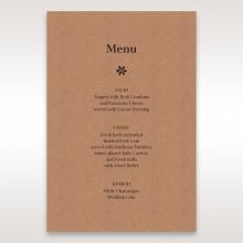 Floral Laser Cut Rustic Gem wedding menu card stationery item