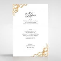 Flourishing Garden Frame wedding venue table menu card stationery