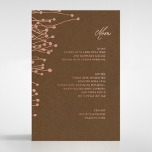 Flourishing Romance wedding venue menu card stationery