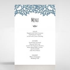 Forest Love wedding venue table menu card stationery