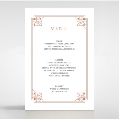 Gatsby Glamour wedding reception menu card stationery