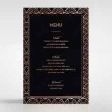 Gatsby Glamour reception table menu card stationery item
