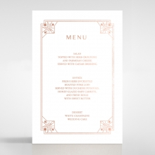 Gatsby Glamour wedding menu card stationery item