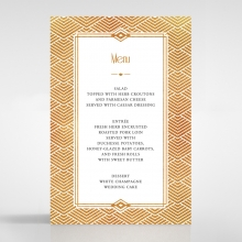 Gilded Glamour menu card