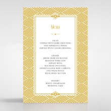 Gilded Glamour reception table menu card stationery item