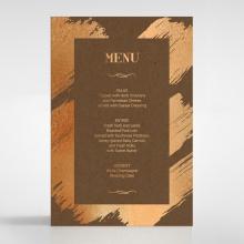 Gilded Stroke wedding reception table menu card stationery design