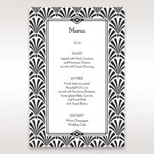 Glitzy Gatsby Foil Stamped Patterns wedding reception table menu card