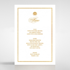Gold Foil Baroque Gates wedding venue menu card stationery item