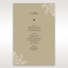 Golden Beauty wedding venue table menu card design