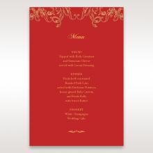 Golden Charisma table menu card design