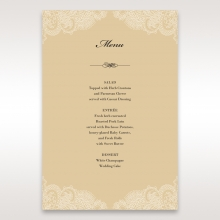 Golden Classic wedding reception menu card stationery item